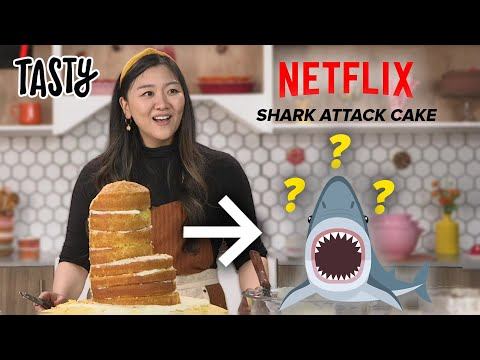 I Tried To Recreate The Famous Shark Cake From Nailed It! •Tasty