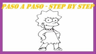 Como dibujar a Lisa Simpsons l How to draw Lisa Simpsons