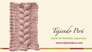 Repeat youtube video Dos agujas: trenza de 3 columnas