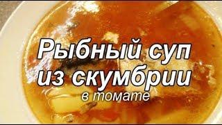 Рыбный суп из скумбрии в томате.  Суп из консервированной рыбы в томате. Просто вкусно!