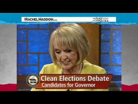 Rachel Maddow- Beheadings in Ariz.- Brewer's cringe-worthy debate