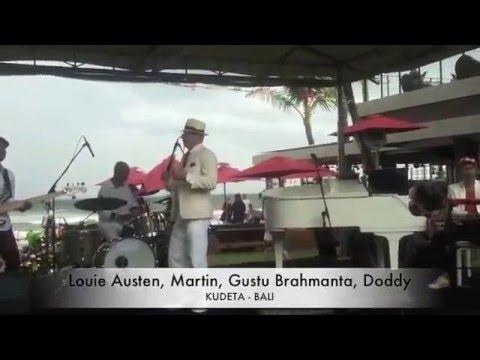 Louie Austen, Martin, Gustu Brahmanta, Doddy at KUDETA, BALI