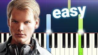 Avicii - Tough Love (100% EASY PIANO TUTORIAL)