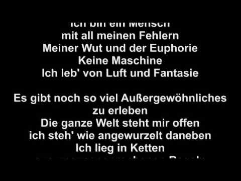 Tim Bendzko - Keine Maschine / LYRICS