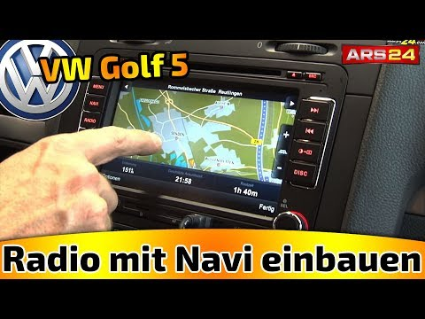 KRÄMER G6 2DIN MULTIMEDIA NAVICEIVER IN GOLF 5 ARS24.COM CAR-HIFI EINBAUTUTORIAL