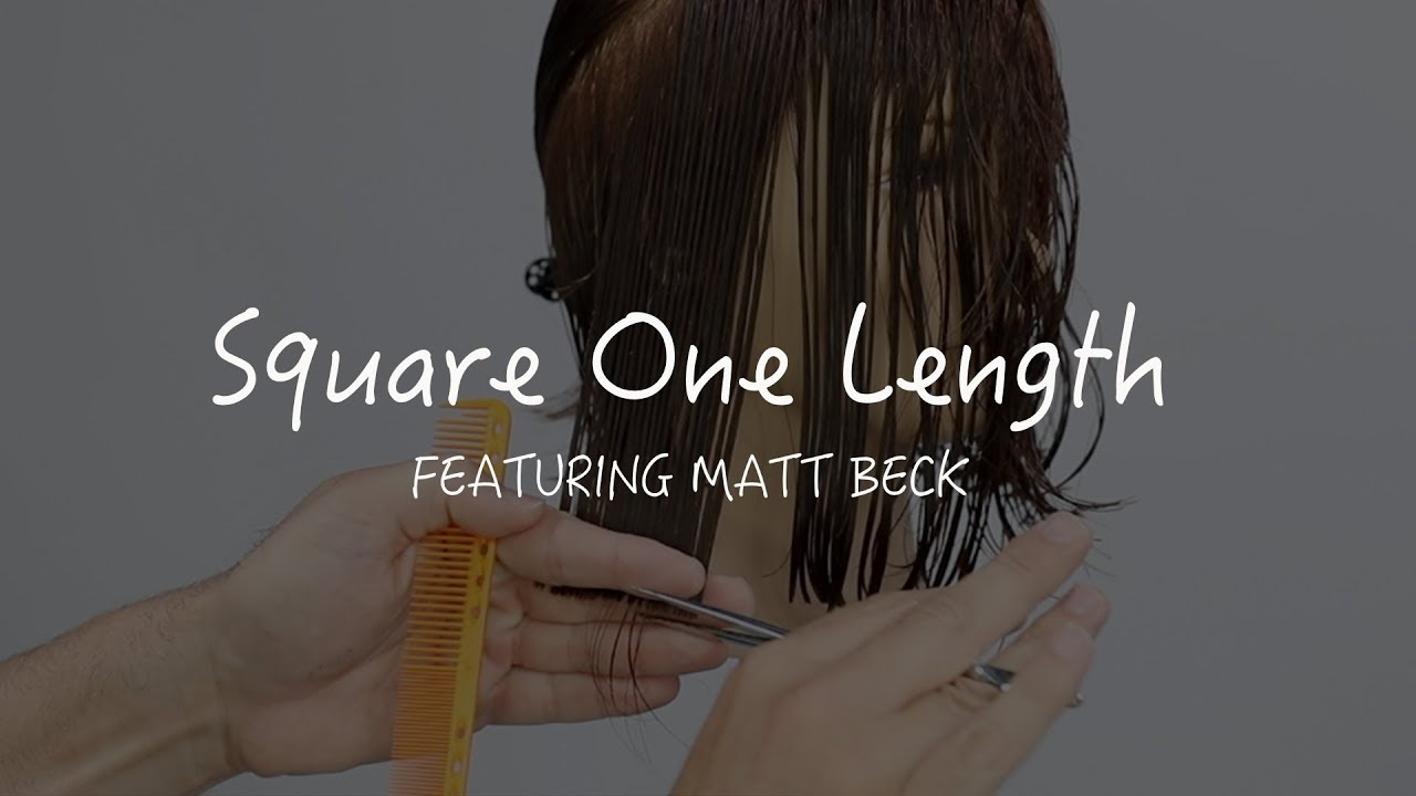 FUNdamental Square One Length Bob Haircut Tutorial