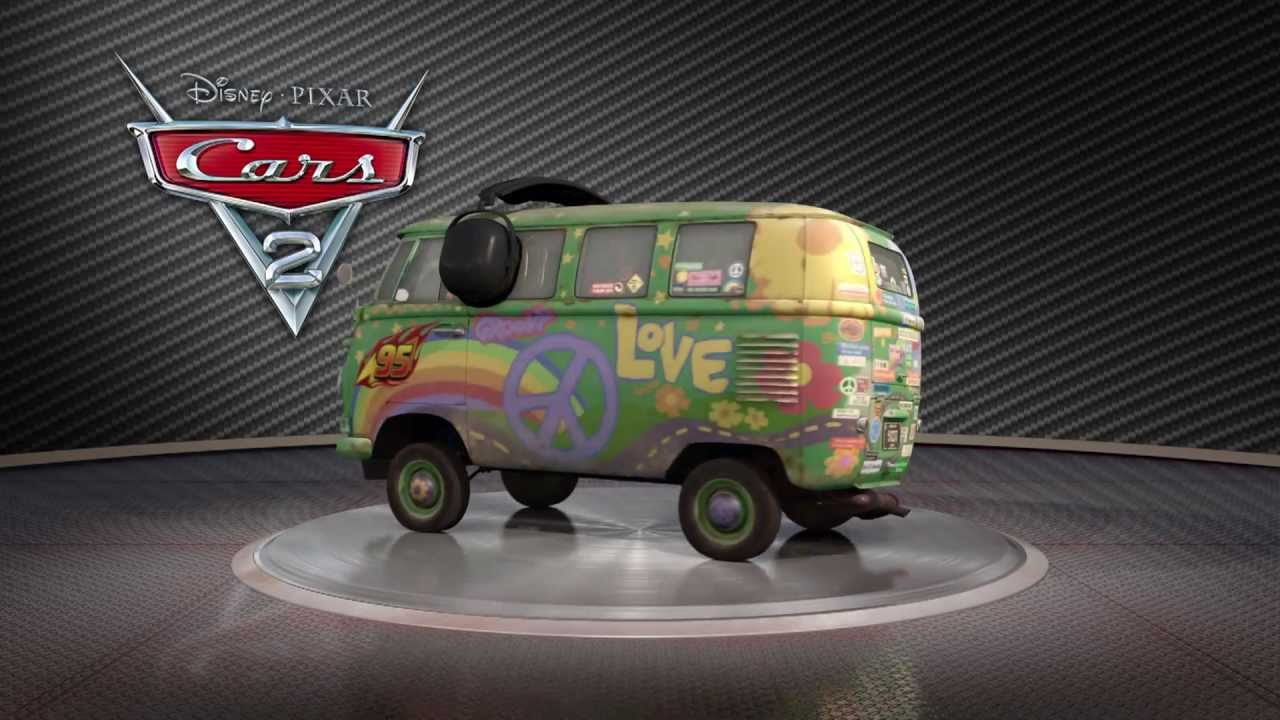 CARS movie character - Fillmore VW bully - 1 friend from ... |Fillmore Cars