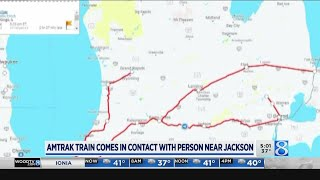 Amtrak Train comes in contact with person