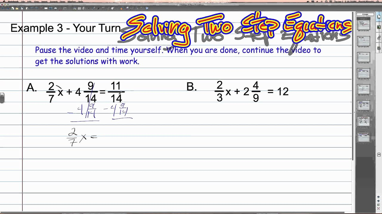 worksheet One Step Equations With Fractions solving two step equations with fractions algebra 1 how to youtube to