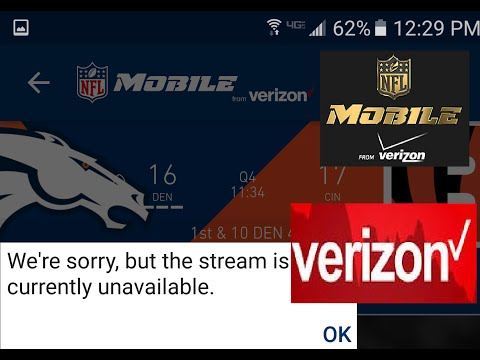 FIX - NFL Network App VERIZON LIVE STREAM