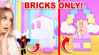 Using BRICKS *ONLY* Build Challenge In Adopt Me! (Roblox)