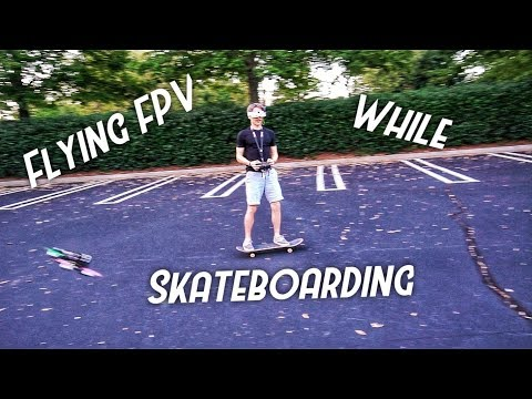 Drone Flying While Skateboarding