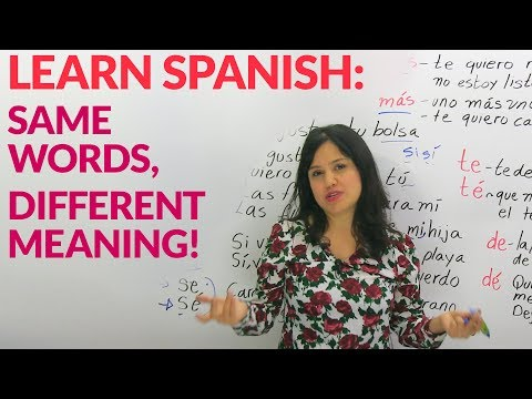 Learn Spanish – Same words with different meanings?!