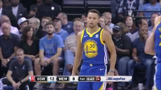 Stephen Curry Ve Durant Oyundan Atıldı!! - Golden State Warriors vs Memphis Özet -  22.10.17