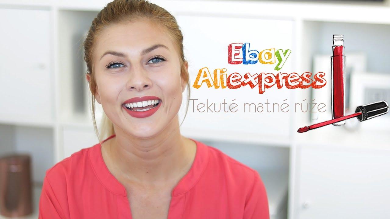 Nákupy cez Ebay a Aliexpress - Matné rúže  c844f0047f5