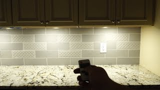 Aiboo Plug-in LED Under Cabinet Puck Lights Installation and Review