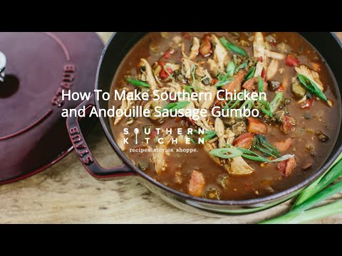 Chicken And Andouille Sausage Gumbo Youtube
