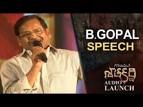 Director B Speech @ Gautamiputra Satakarni Audio Launch | Lahari Music | T-Series