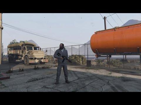 [flashback] GTA V - perfect C4/headshot desert dawn ambush of the Military Hardware convoy