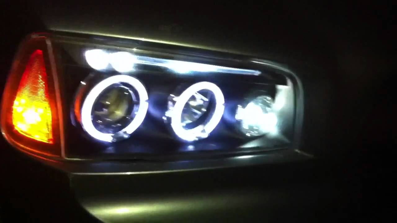 Dodge Charger Headligths Halos Projector Amp Angel Eyes L