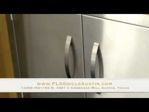 FLO Grill 304 Stainless Steel Double Access Doors For Outdoor Kitchens    YouTube