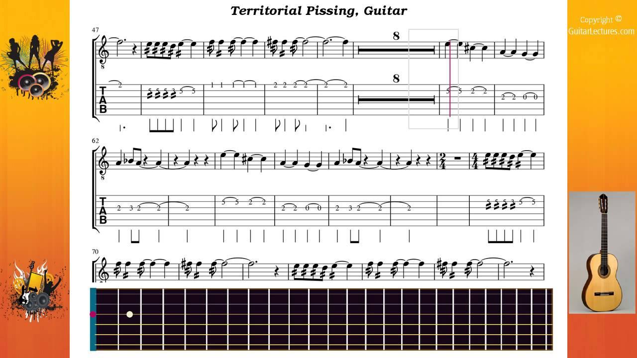 Territorial pissing guitar tabs