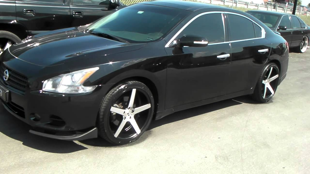 Dubsandtires 22 Inch Xo Miami Brushed Black Concave Wheels 2009 Nissan Maxima Review