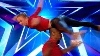 Britain's Got Talent 2017 Annette & Yannick Roller Daredevils Full Audition S11E06