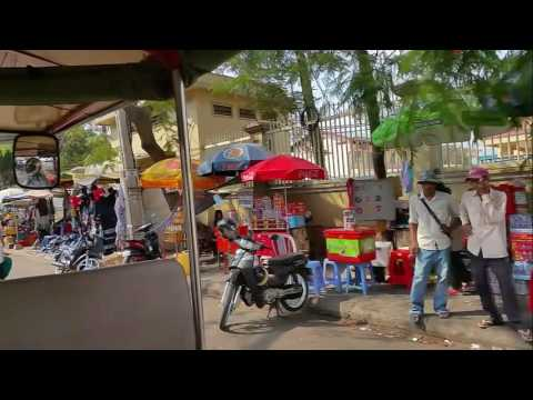 My Trip To Phnom Penh Capital City Of Cambodia On Tuk Tuk And Buying Street Food Near Russian Market
