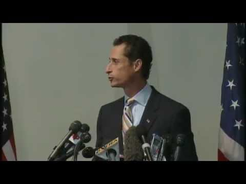 Anthony Weiner Press Conference: Resignation Met With Lewd Heckles (06.16.11)