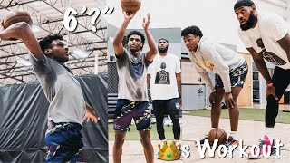 LeBron James Workout With His Son Bronny & Shows His INSANE Growth
