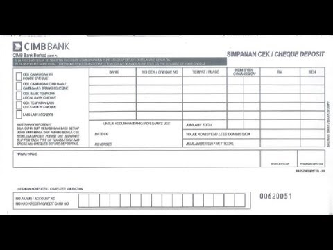 MY- How to fill Credit Card Payment slip of CIMB Bank - YouTube