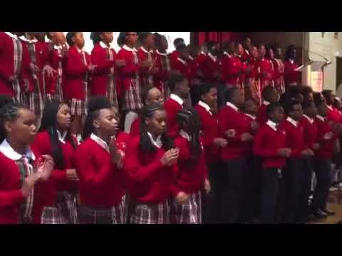 Baltimore's Cardinal Shehan School Choir performs at Fall lunch