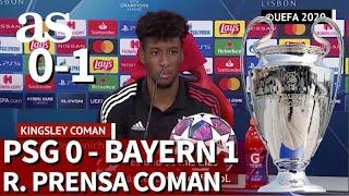 PSG 0 - BAYERN 1 | COMAN, rueda de prensa FINAL CHAMPIONS LEAGUE 2020 | DIARIO AS