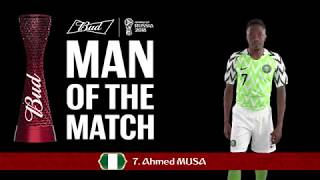 Ahmed MUSA (Nigeria) - - Man of the Match - MATCH 24