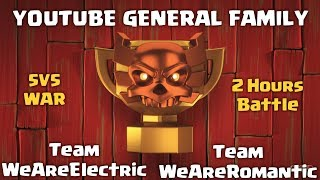 [LIVE] Clash of Clans | YouTube General Family | INSANE 5v5 War | Clash With Sparsh