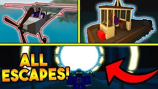 HOW TO COMPLETE ALL 3 ESCAPES ON THE ISLE! (ROBLOX)