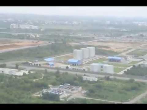 Landing at Hyderabad Airport