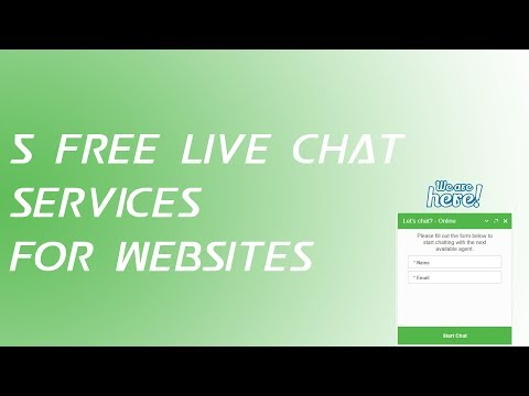 5 Free Live Chat Services For Websites