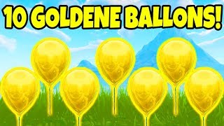 Fortnite: Bringe 10 goldene Ballons zum Platzen! | Herausforderung Woche 9