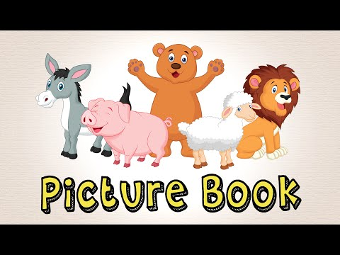 Picture Book With Animals | Learn To Speak English For Kids!