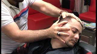 ASMR BARBER MASSAGE | SLEEP MASSAGE NO TALKİNG(Face,care,neck,body,crack)BERBER MASAJİ