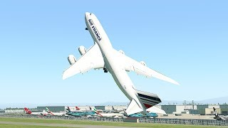 Giant Boeing 747 Vertical Takeoff After Pilot Break Up With Girlfriend | X-Plane 11