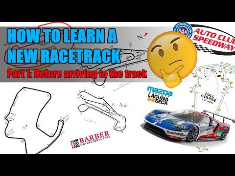 How to learn a new race track: Part 1