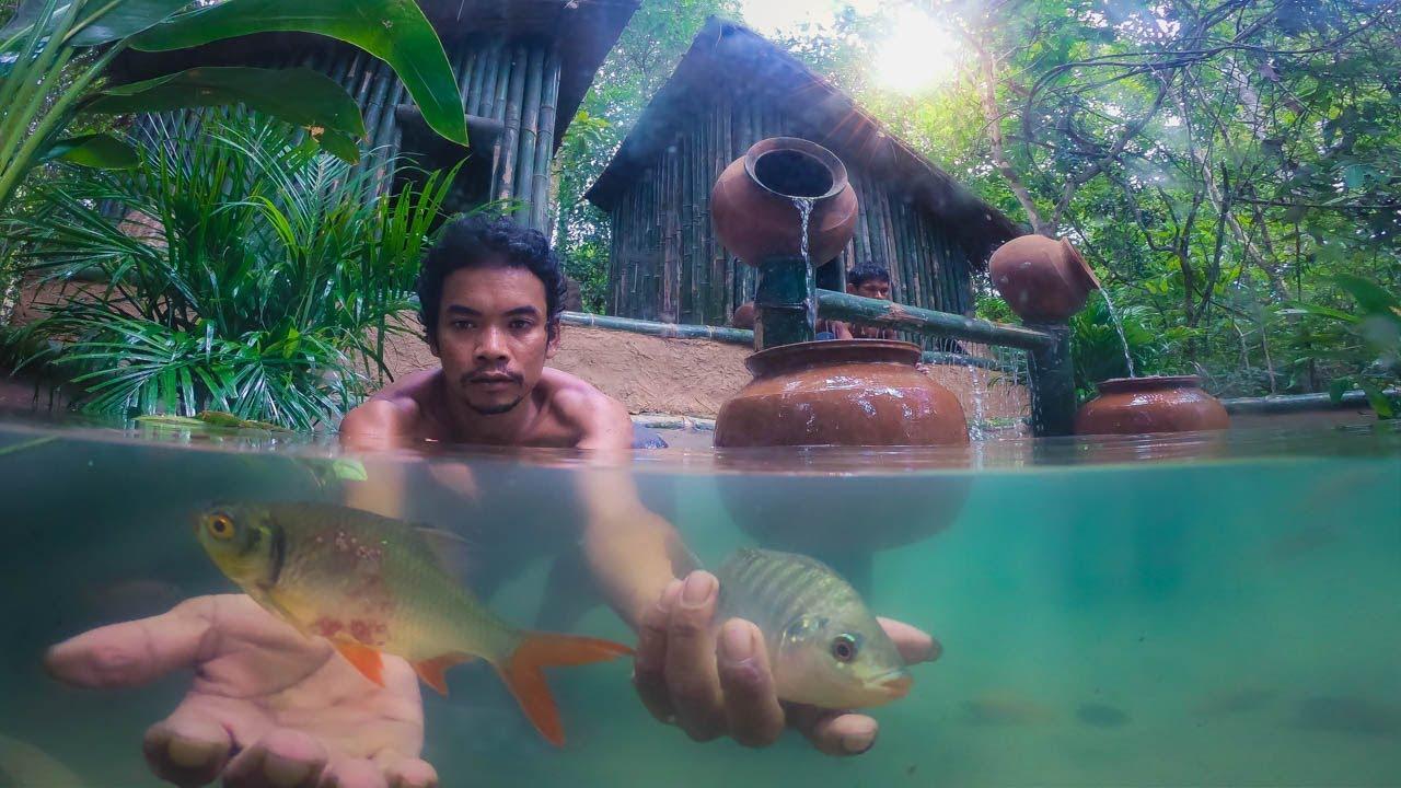 Construindo o Tanque De Piscina De Peixes Mais Bonito Para a Casa De Vivendas Gêmeas Por Antigas....