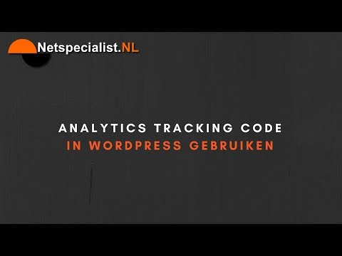analytics tracking code in wordpress plaatsen