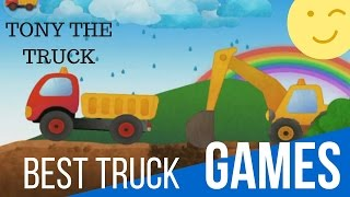 Tony The Dump Truck - Fun Game For Kids  Excavator, Forklift, Crane