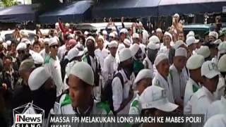 Massa FPI Melakukan Long March Ke Mabes Polri - INews Siang 16/01
