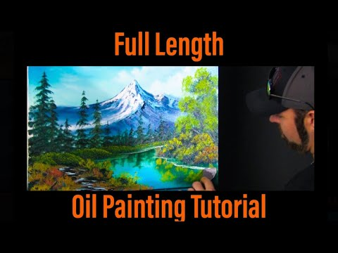 Full Length Beginner Mountain Landscape Oil Painting Tutorial | Paintings By Justin