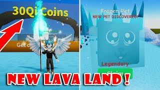 New Update!! LAVA Land & Got The Rare Legendary Pets (0,05%) | Unboxing Simulator!! [Roblox]